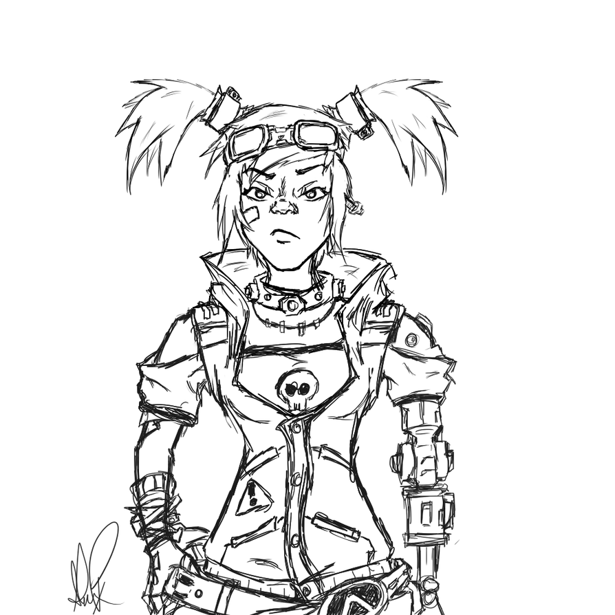 Borderlands coloring pages ~ Borderland The Presequel - Free Coloring Pages