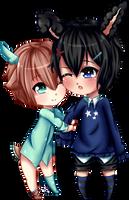 Riku and Shin by Kanzy-Chan