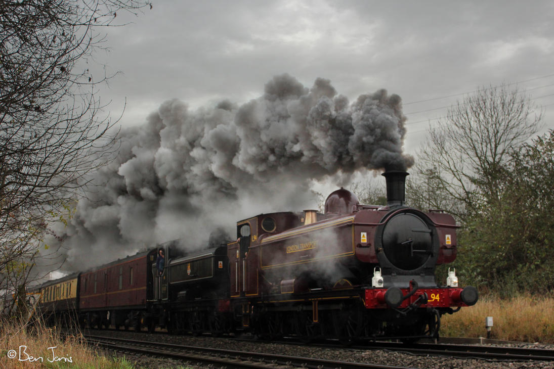 No. L94 and No. 9600 pass Daw Mill Colliery by bigben5051