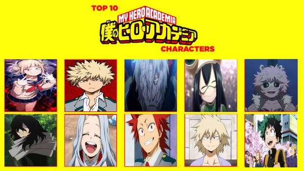 My Top Ten MHA Characters