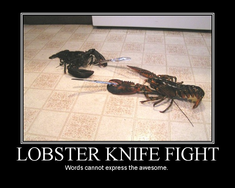 Lobster Knife Fight by AngryFlashlight