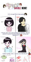 Double Meme - Kirina and Shinri by MKirina