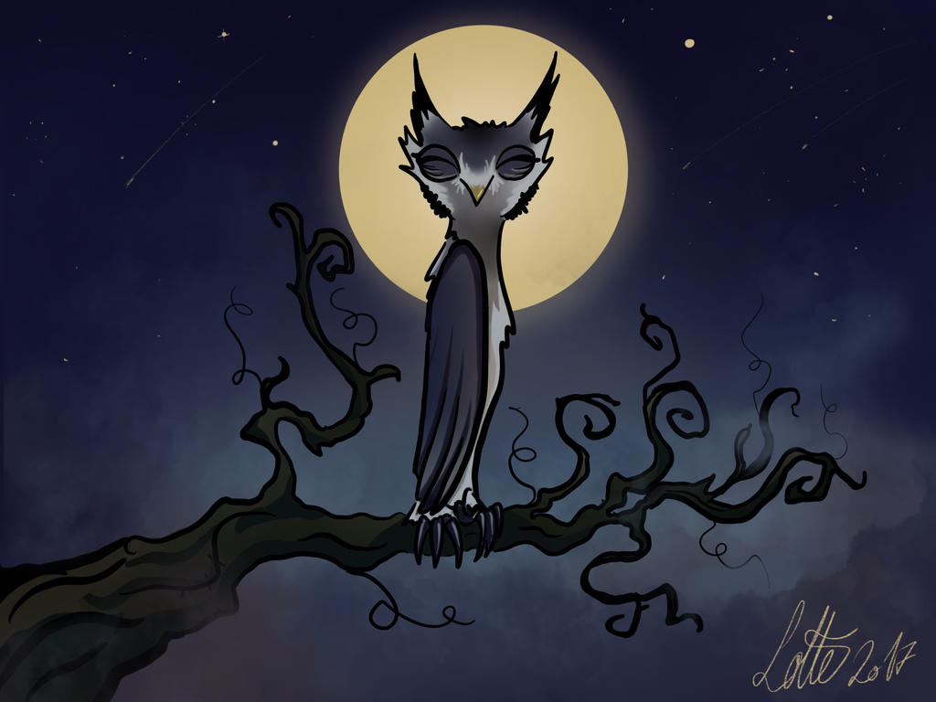 Mysterious owl by fakeplasticcats