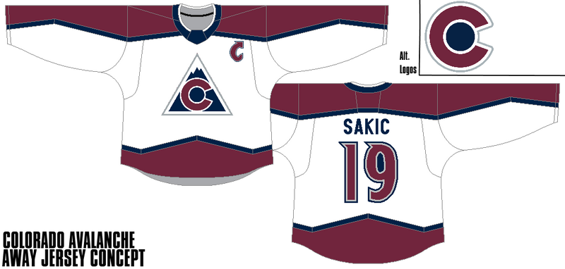 brand new dbc03 f2b5d Colorado Avalanche - Away Jersey Concept by Gojira5000 on ...