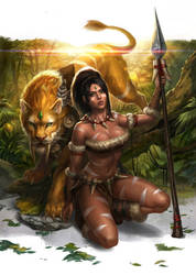 Nidalee the Bestial Huntress / Cougar Final by notagingermaan