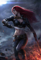 Katarina the Sinister Blade by notagingermaan