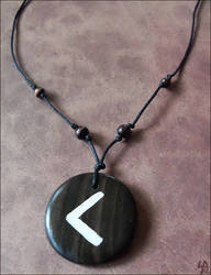 Kenaz Rune Necklace by SalamenceClaws