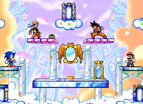 Sonic vs Goku vs Mario vs Naruto by Nelsoncaricatoon on DeviantArt