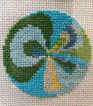 Loonie ball embroidery