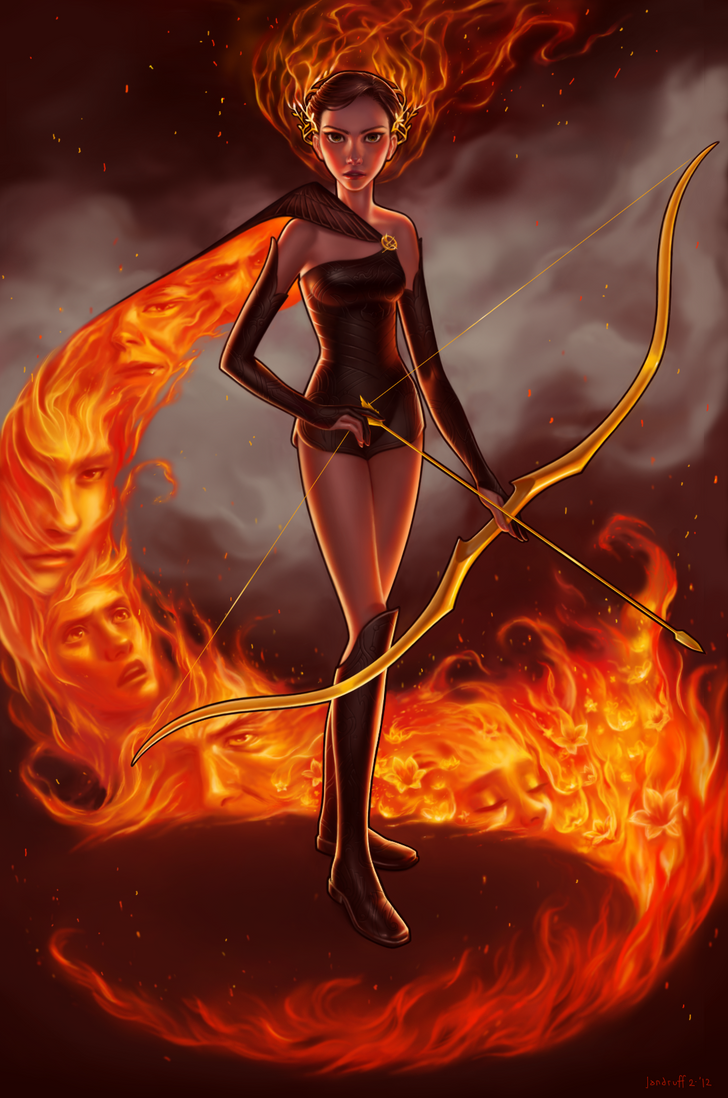 The Girl On Fire by Jandruff