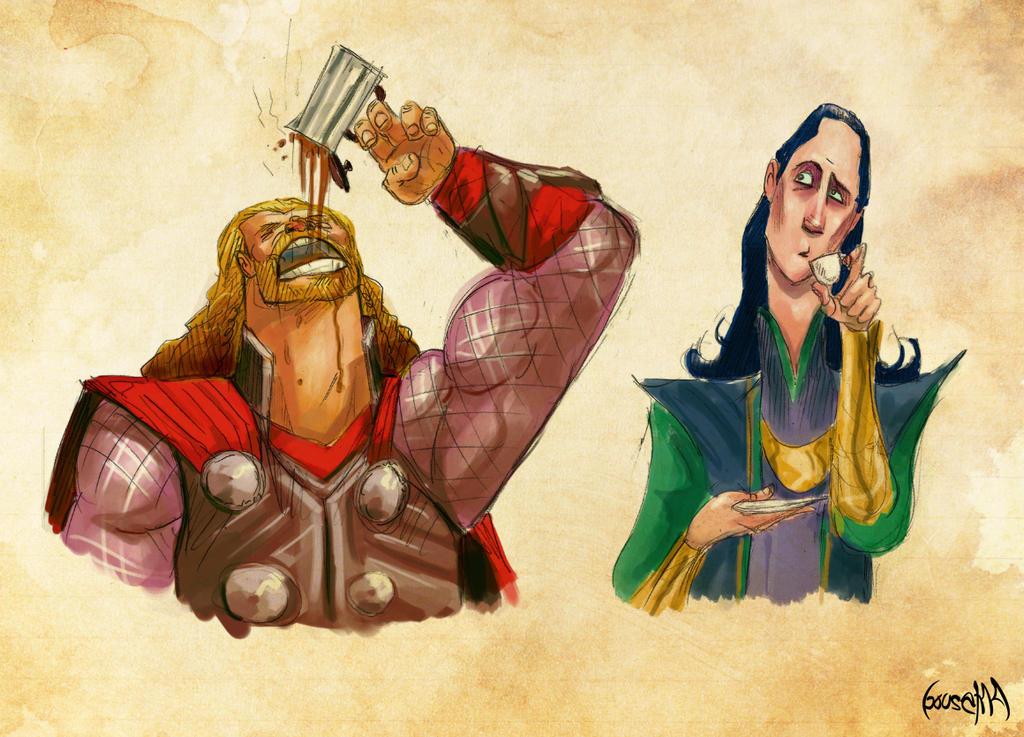 Coffee in Asgard by JamesBousema