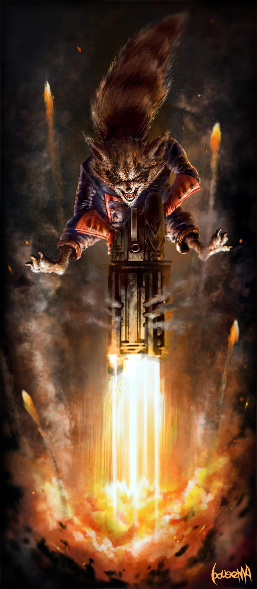 Rocket Raccoon by JamesBousema