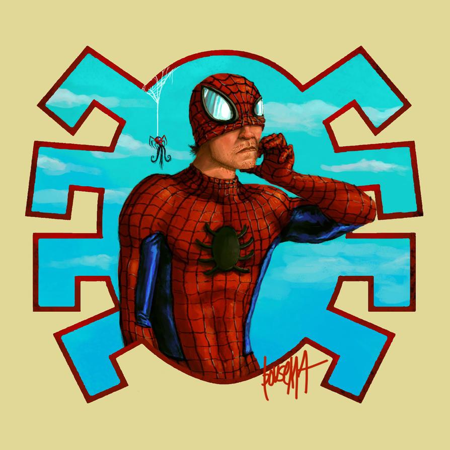 Super Movember: Spiderman by JamesBousema