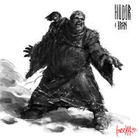 Hodor and Bran by JamesBousema