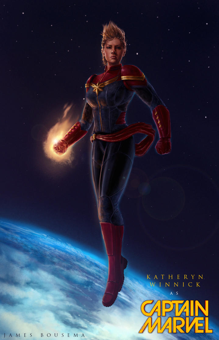 Katheryn Winnick as Captain Marvel by JamesBousema