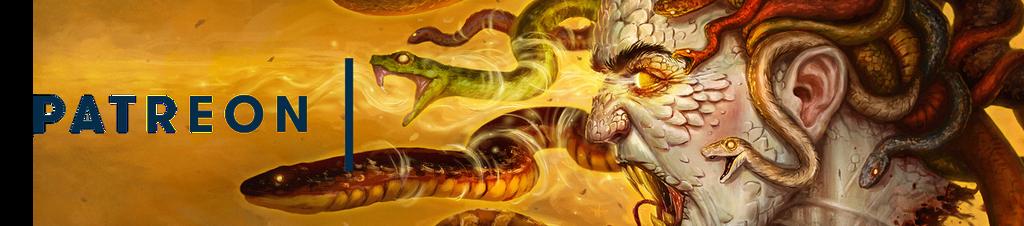 Medusa Patreon Banner2 by JamesBousema
