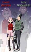 Sakura and Shikamaru poster