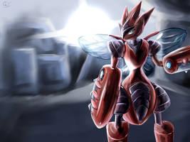 Scizor - Bug-Type Dynamo! by RoyaleMay
