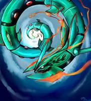Mega Rayquaza by RoyaleMay