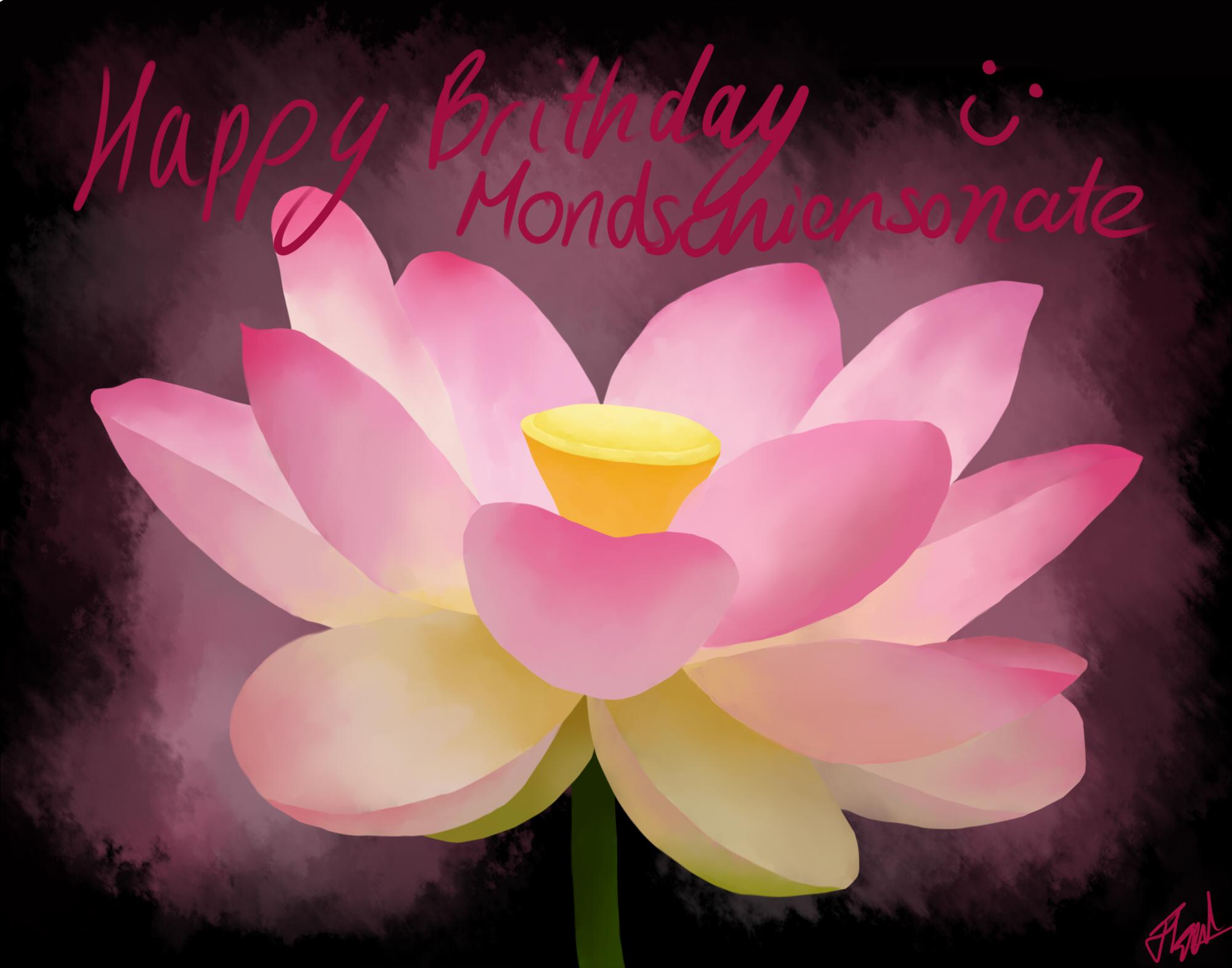 Mons Birthday Flower By Bonelos On Deviantart