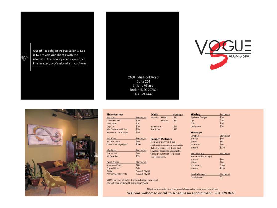 Vogue Salon and Spa Brochure by ThomasPhifer on DeviantArt
