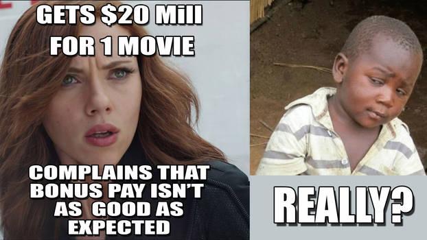 Scarlett Johansson is Greedy Meme