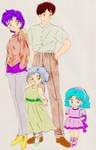 Colorized Mercury Family