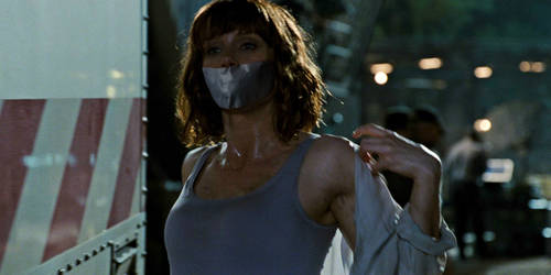 Bryce Dallas Howard Sweat and Tape Gagged by TheBlenderTaper
