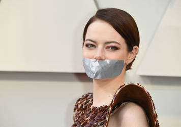 Emma Stone Tape Gagged by TheBlenderTaper