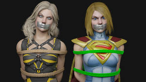 Black Canary and Supergirl