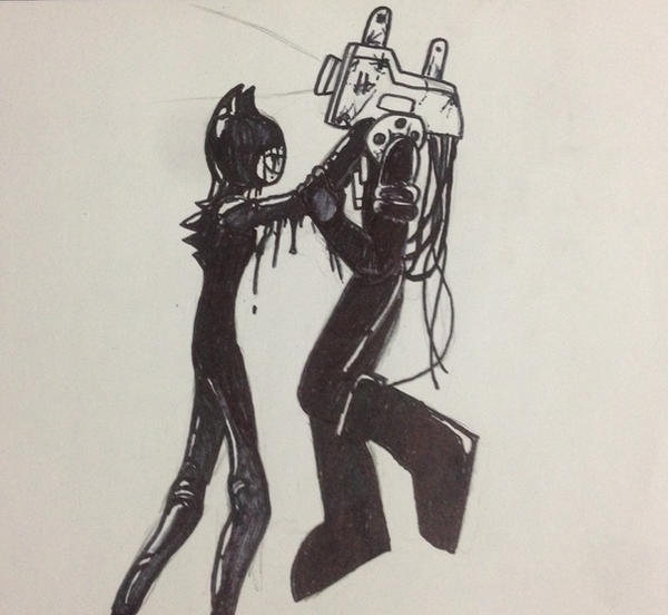 Bendy Vs Projectionist By E4hargus On DeviantArt