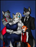 Wolf family (and fox)
