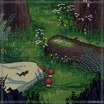 In the woods (pixel version)