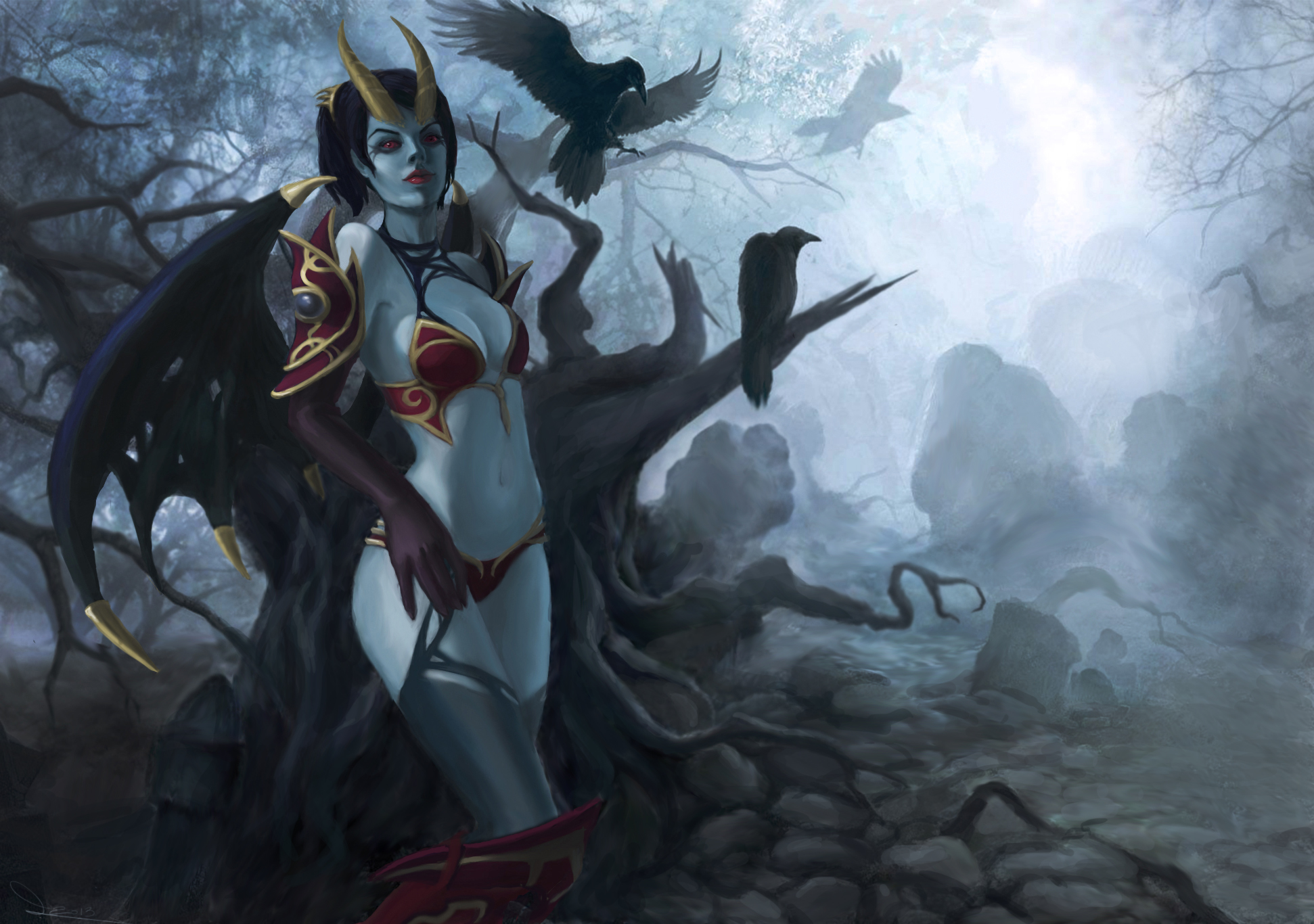 Dota 2 Queen Of Pain By Pekachyka On Deviantart