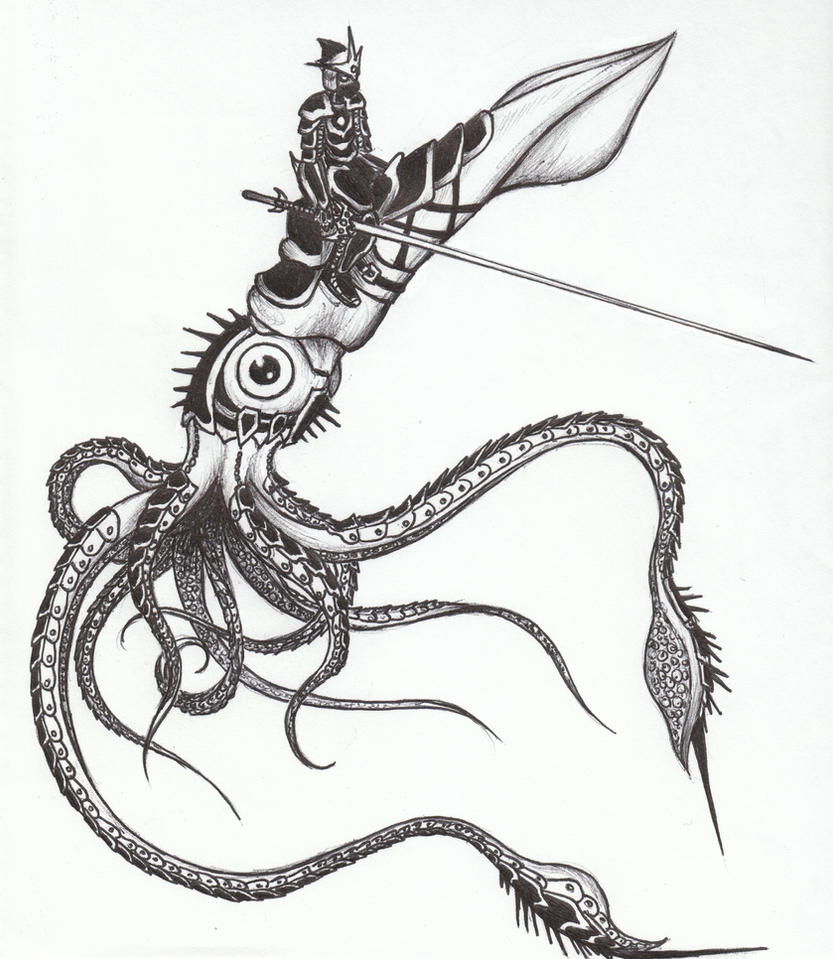 Uncategorized Squid Drawings battle squid by azraelkarasu on deviantart azraelkarasu