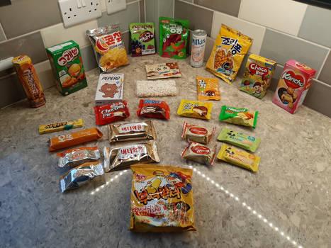 South Korean Snack Crate Goodies