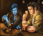 Kurt and Logan....and beer