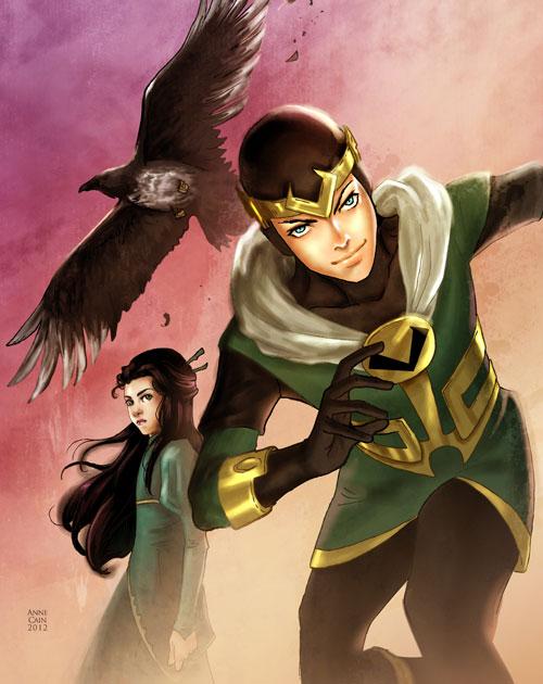 Kid Loki, Leah, and Ikol by annecain on DeviantArt
