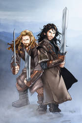 The Hobbit: Fili and Kili by annecain
