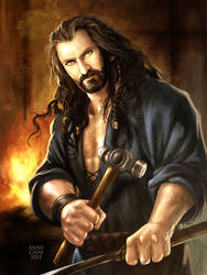 The Hobbit: Metalsmith Thorin by annecain