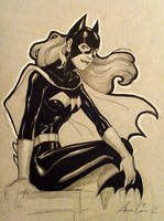 Sample Con sketch: Batgirl (DC Comics) by annecain