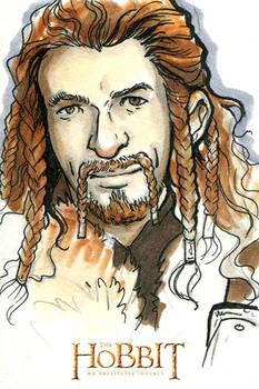 The Hobbit - An Unexpected Journey Art Card: Fili