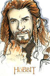 The Hobbit - An Unexpected Journey Art Card: Fili