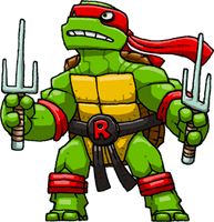 Raphael (Teenage Mutant Ninja Turtles) by Hologramzx