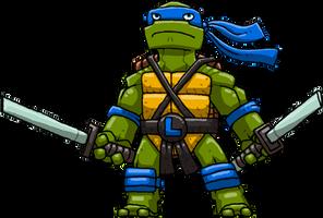 Leonardo (Teenage Mutant Ninja Turtles) by Hologramzx