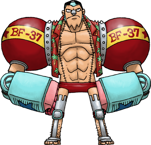Timeskip Franky (One Piece) by Hologramzx