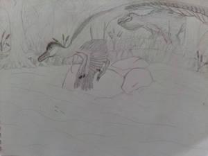 Neuquenraptor and Siamosaurus