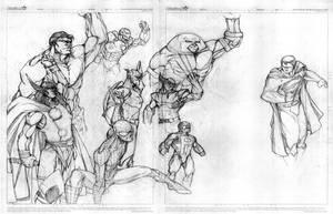 Marvel versus Superman by victoroil