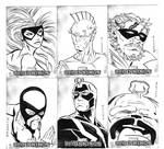 Marvel sketch cards by victoroil