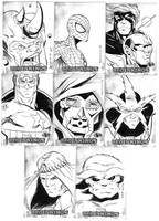 Marvel sketch cards 2 by victoroil